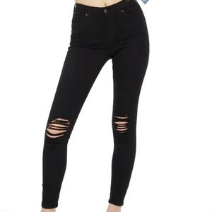 Topshop Moto Jamie High Waisted Ripped Jeans